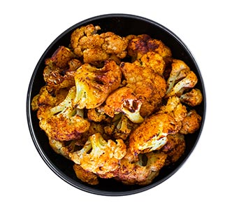 A bowl of smoked paprika cauliflower.
